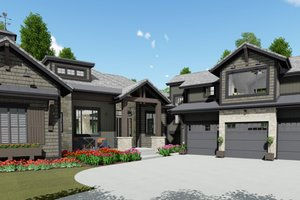 Dream House Plan - Farmhouse Exterior - Front Elevation Plan #1069-21