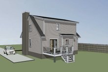 Dream House Plan - Cottage Exterior - Rear Elevation Plan #79-156