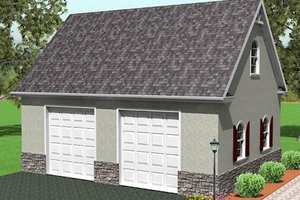 Traditional Exterior - Front Elevation Plan #75-217