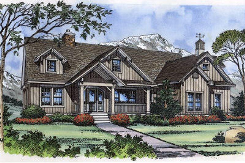 Dream House Plan - European Exterior - Front Elevation Plan #417-239