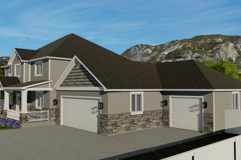 House Plan Design - Traditional Exterior - Other Elevation Plan #1060-8