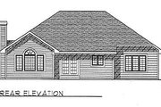 Traditional Style House Plan - 3 Beds 2.5 Baths 1739 Sq/Ft Plan #70-184 Exterior - Rear Elevation