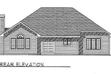 Dream House Plan - Traditional Exterior - Rear Elevation Plan #70-184