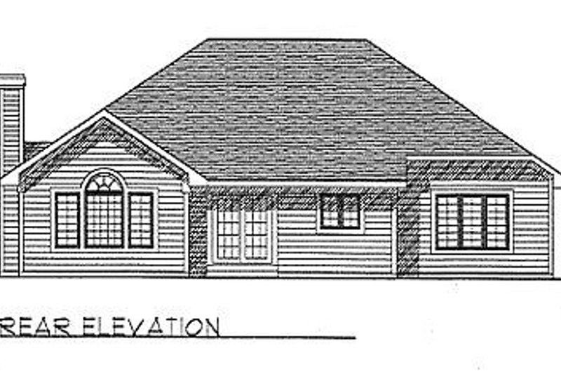 Traditional Exterior - Rear Elevation Plan #70-184 - Houseplans.com