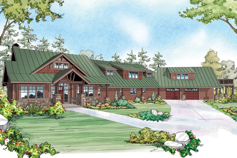 Craftsman Exterior - Front Elevation Plan #124-925 - Houseplans.com