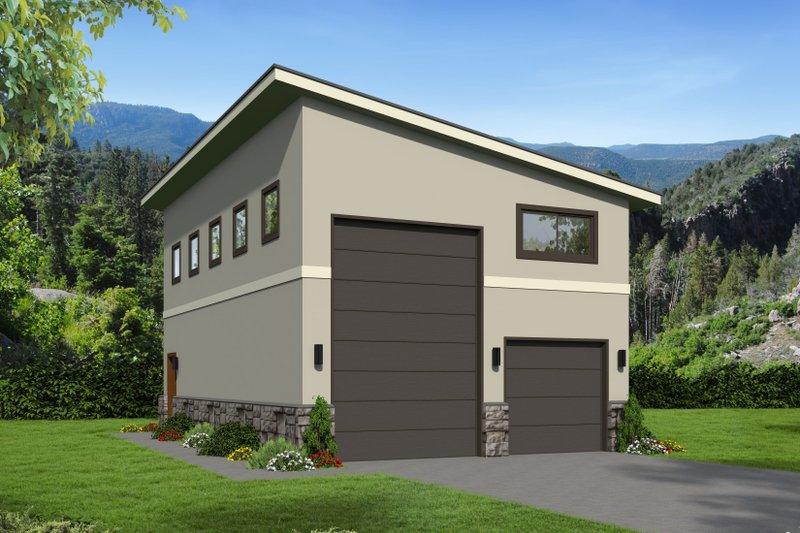 House Plan Design - Contemporary Exterior - Front Elevation Plan #932-246