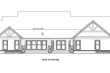 House Plan Design - Craftsman Exterior - Rear Elevation Plan #17-2373
