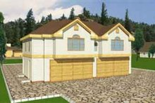 Home Plan - Traditional Exterior - Front Elevation Plan #117-254