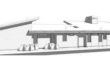 House Blueprint - Modern Exterior - Other Elevation Plan #895-124