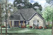 European Style House Plan - 3 Beds 2.5 Baths 2408 Sq/Ft Plan #17-2522 Exterior - Other Elevation