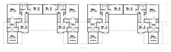 Ranch Floor Plan - Upper Floor Plan Plan #20-1561