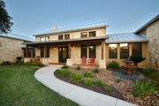 Ranch Style House Plan - 3 Beds 2.5 Baths 2693 Sq/Ft Plan #140-149 Exterior - Other Elevation