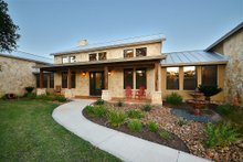 House Plan Design - Hill Country Ranch Home, Front Elevation photo