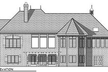 European Exterior - Rear Elevation Plan #70-889