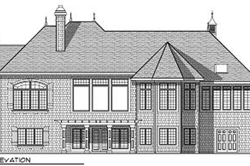 European Exterior - Rear Elevation Plan #70-889 - Houseplans.com