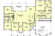 Craftsman Style House Plan - 4 Beds 3 Baths 2832 Sq/Ft Plan #430-201 Floor Plan - Main Floor Plan