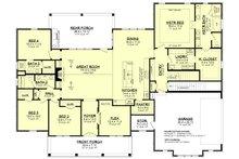 Craftsman Floor Plan - Main Floor Plan Plan #430-201