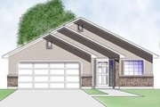Adobe / Southwestern Style House Plan - 2 Beds 1 Baths 998 Sq/Ft Plan #5-106 Exterior - Front Elevation