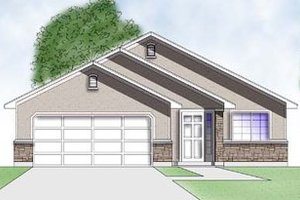 Home Plan Design - Adobe / Southwestern Exterior - Front Elevation Plan #5-106