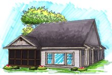 Ranch Exterior - Rear Elevation Plan #70-1030