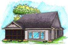 Dream House Plan - Ranch Exterior - Rear Elevation Plan #70-1030