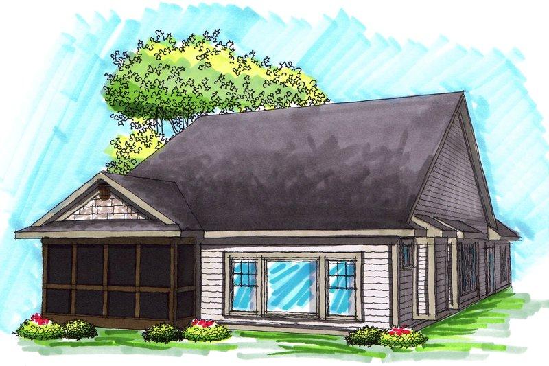 Ranch Exterior - Rear Elevation Plan #70-1030 - Houseplans.com