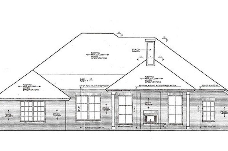 European Exterior - Rear Elevation Plan #310-969 - Houseplans.com