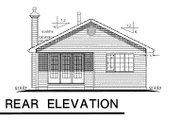 Ranch Style House Plan - 2 Beds 1 Baths 1019 Sq/Ft Plan #18-151 Exterior - Rear Elevation