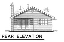 Home Plan - Ranch Exterior - Rear Elevation Plan #18-151