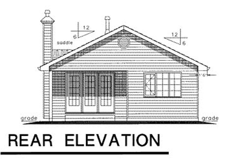 Ranch Exterior - Rear Elevation Plan #18-151 - Houseplans.com