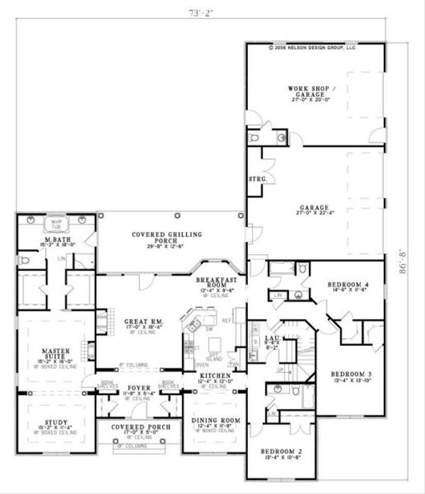 European Floor Plan - Main Floor Plan Plan #17-651