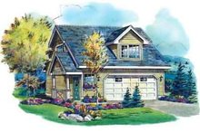 House Blueprint - Traditional Exterior - Front Elevation Plan #18-317