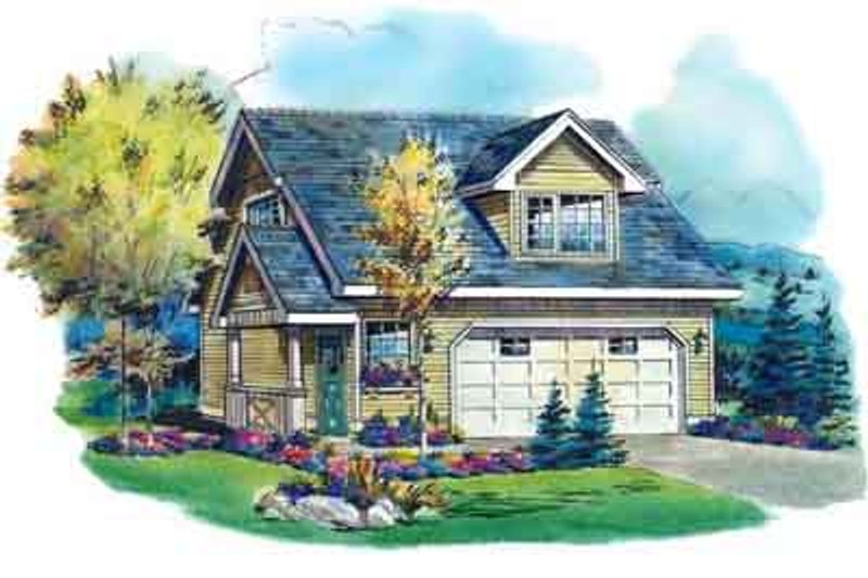 Dream House Plan - Traditional Exterior - Front Elevation Plan #18-317
