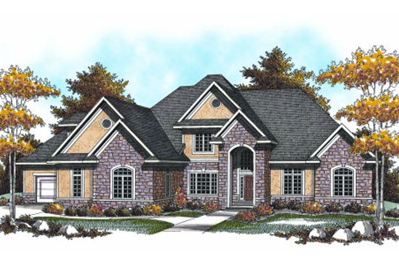 European Exterior - Front Elevation Plan #70-959 - Houseplans.com