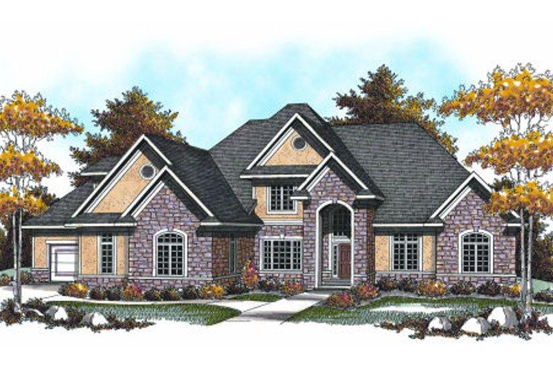 Dream House Plan - European Exterior - Front Elevation Plan #70-959