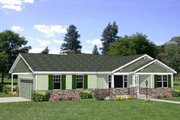 Bungalow Style House Plan - 2 Beds 2 Baths 1596 Sq/Ft Plan #116-281 Exterior - Front Elevation