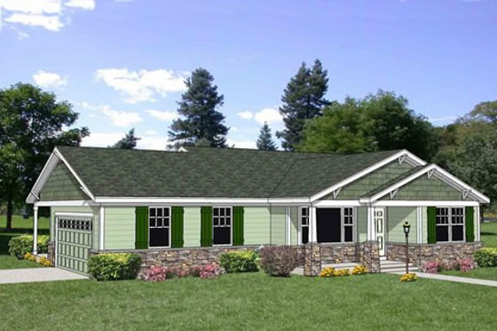Bungalow Exterior - Front Elevation Plan #116-281