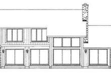 House Blueprint - Modern Exterior - Rear Elevation Plan #72-123