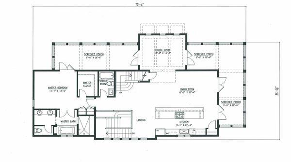 Beach Floor Plan - Main Floor Plan Plan #443-10
