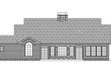 Classical Exterior - Rear Elevation Plan #119-344