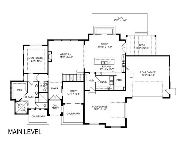 European Floor Plan - Main Floor Plan Plan #920-107