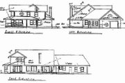 Ranch Style House Plan - 3 Beds 3 Baths 2488 Sq/Ft Plan #60-311 Exterior - Rear Elevation