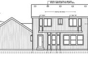 Colonial Style House Plan - 3 Beds 2.5 Baths 1676 Sq/Ft Plan #98-210 Exterior - Rear Elevation
