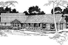 Home Plan - Ranch Exterior - Front Elevation Plan #124-194
