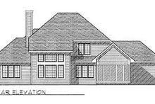 Home Plan - Traditional Exterior - Rear Elevation Plan #70-383