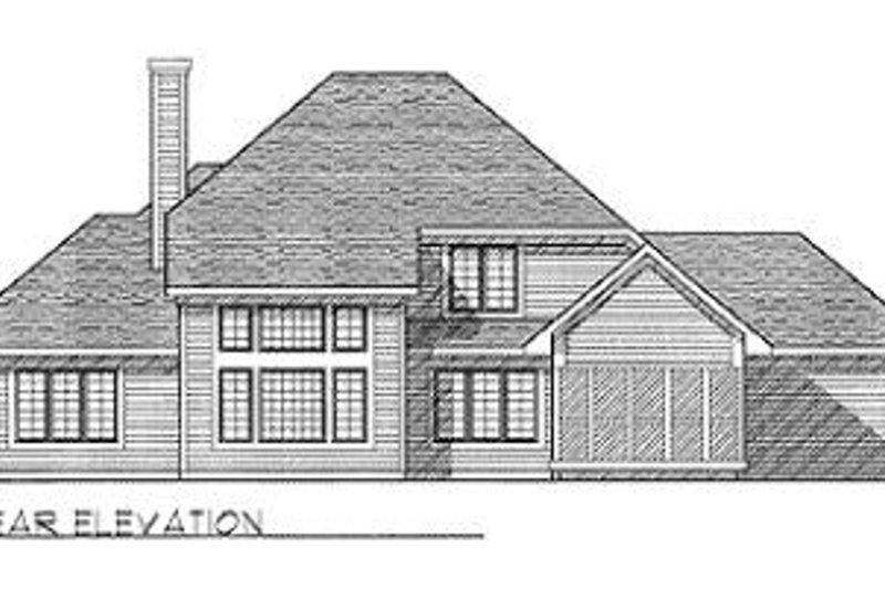 Traditional Exterior - Rear Elevation Plan #70-383 - Houseplans.com