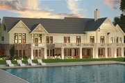 Ranch Style House Plan - 3 Beds 2.5 Baths 2830 Sq/Ft Plan #119-430 Exterior - Rear Elevation