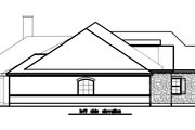 European Style House Plan - 3 Beds 3 Baths 2857 Sq/Ft Plan #411-476 Exterior - Other Elevation