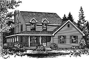 Traditional Exterior - Front Elevation Plan #12-211