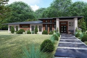 Contemporary Exterior - Front Elevation Plan #17-3392